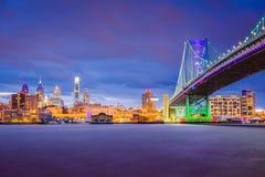 Filadelfia, Pennsylwania, usa linia horyzontu obrazy royalty free