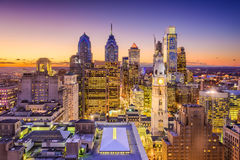 Filadelfia, Pensilvania, orizzonte di U.S.A. fotografia stock