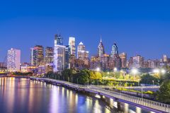 Filadelfia, Pensilvania, PA, S.U.A. 8-23-17: orizzonte a di Philadelphia fotografia stock