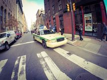 Filadelfia taxi Fotografia Royalty Free