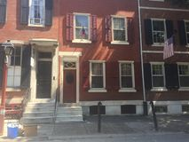 Filadelfia Waszyngton kwadrata brownstone Zachodni domy na słonecznym dniu Obrazy Royalty Free