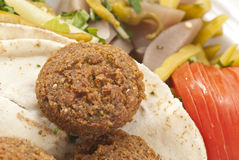 Filafel - der libanesische Imbiß Stockbilder