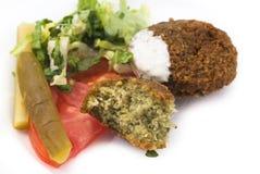 Filalfel mit Gemüse und Essiggurke Lizenzfreie Stockfotografie