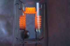 Filament. One 1000 watt lamp bulb filament Stock Photo
