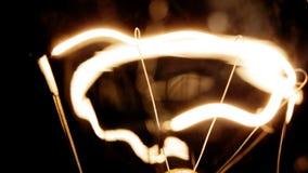 Filament de tungstène d'ampoule électrique banque de vidéos
