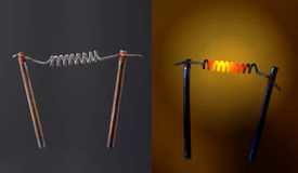 Filament lamp. Stock Images