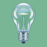 Filament lamp. Vector illustration of incandescent bulb Stock Photography