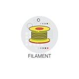 Filament Tailor Fiber Textile Icon Stock Photos