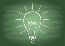 The filament of the word Idea Stock Photo
