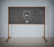 The filament of the word Idea. Drawing light bulb filament from the word Idea Royalty Free Stock Photos