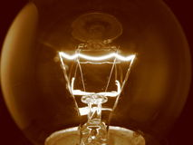 Filamento de la bombilla fotografía de archivo libre de regalías