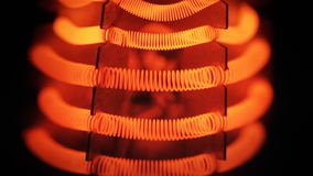 Filamento di tungsteno della stufa elettrica stock footage