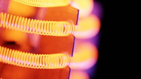 Filamento di tungsteno della stufa elettrica video d archivio