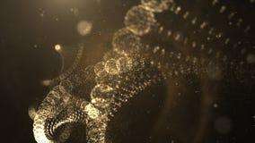 Filamento virtual generado Digital de la DNA en espacio cibernético de las partículas abstractas Fotografía de archivo libre de regalías