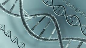 Filamentos animados de la DNA 4K Lazo-capaz ilustración del vector