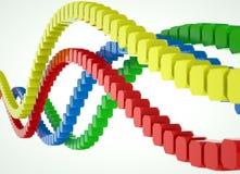 Líneas coloreadas de bloques Imagen de archivo