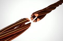 Filamentos de alambre de cobre desconectados Foto de archivo