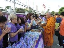 Filantropía en el Año Nuevo, Tailandia Fotos de archivo libres de regalías