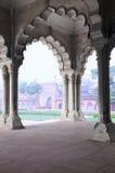 Filar galeria w Agra forcie, Uttar Pradesh, India Zdjęcie Stock