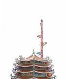 Filar smok rzeźba w Chińskiej świątyni Zdjęcia Stock