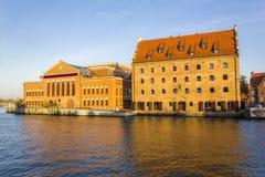 Filarmônico Báltico polonês em Gdansk, Polônia imagens de stock royalty free