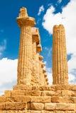 Filary Ercole świątynia w Agrigento, Sicily wyspa, Włochy Fotografia Royalty Free