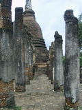 Filary i Antyczna pagoda Zdjęcia Royalty Free
