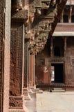 Filary przy fortem Agra fotografia stock