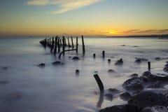 Filary w wodzie w Tagus rzece Fotografia Royalty Free