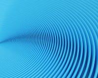 Filas curvadas azules abstractas Foto de archivo libre de regalías