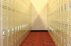 Filas de armarios apilados Foto de archivo