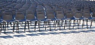 Filas de asientos fotos de archivo libres de regalías
