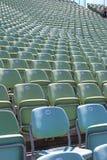 Filas de asientos verdes Fotografía de archivo libre de regalías