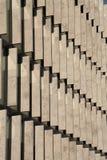 Filas de bloques de cemento Foto de archivo libre de regalías