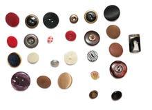 Filas de botones Fotografía de archivo libre de regalías