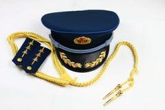 Filas de la cinta y un casquillo de la fuerza aérea china Foto de archivo