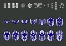 Filas de la fuerza aérea de los E.E.U.U. stock de ilustración