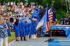 Filas de la graduación en la ceremonia de graduación, Imagen de archivo libre de regalías