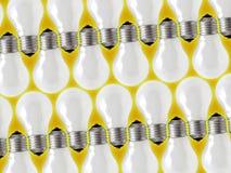 Filas de la lámpara Fotos de archivo libres de regalías