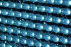 Filas de las lámparas, conexiones a la cámara, LED Fotos de archivo libres de regalías