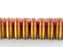 Filas de las pequeñas balas del calibre Imagen de archivo