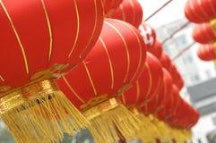 Filas de linternas chinas Foto de archivo libre de regalías
