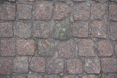 Filas de los adoquines del granito desde arriba Fotografía de archivo