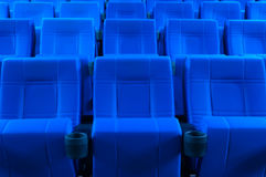 Filas de los asientos del teatro Foto de archivo