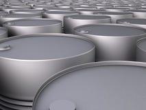 Filas de los barriles de petróleo Imágenes de archivo libres de regalías