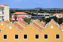 Filas de los edificios amarillos del yeso Fotos de archivo