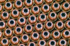 Filas de los puntos negros huecos de la punta - munición Fotografía de archivo libre de regalías