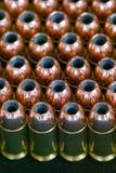 Filas de los puntos negros huecos de la punta - munición Imágenes de archivo libres de regalías