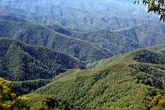 Filas de montañas Fotografía de archivo libre de regalías