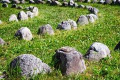 Filas de rocas Imagen de archivo libre de regalías